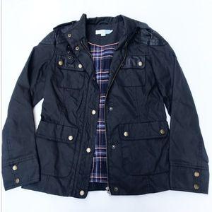 Boden black Utility Waxed Jacket Size 4
